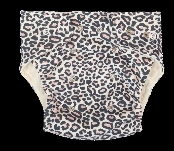 Mamatti Látková plenka EKO sada - kalhotky + 2 x plenka, Gepardík, vel. 5 - 14 kg