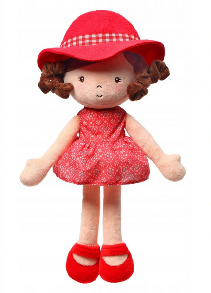Hadrová panenka BabyOno Poppy Doll, červená