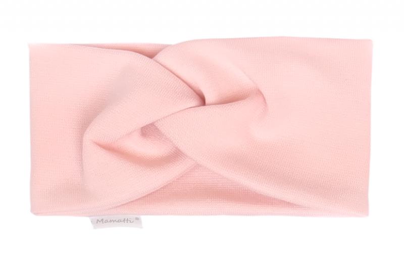 Mamatti Dětská čelenka Květinka - světle růžová