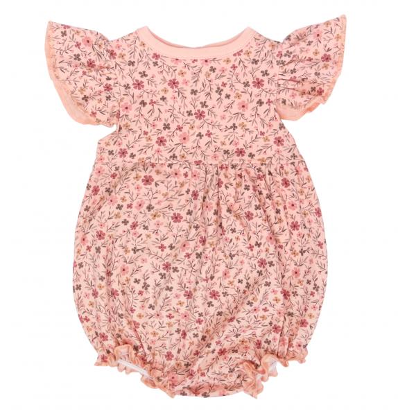 Mamatti Body s nohavičkami Květinka - růžové s potiskem, vel. 86