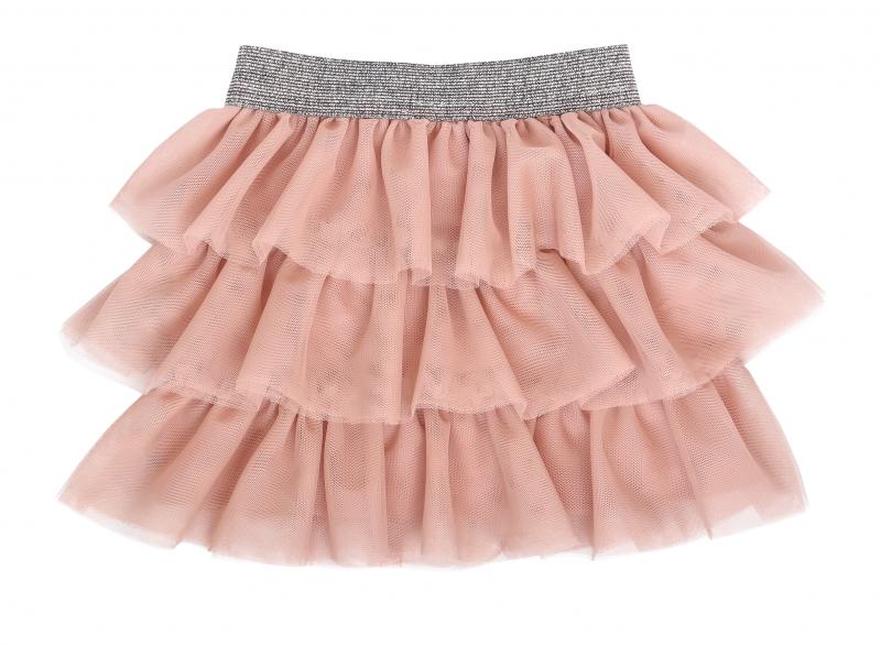 Mamatti Kojenecká tylová sukně, Květinka - pudrová