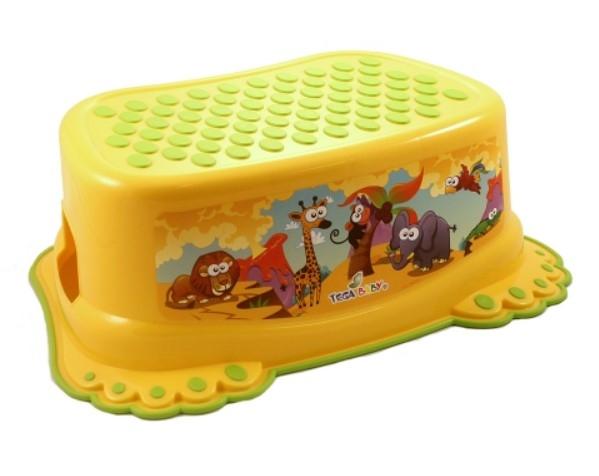 Tega Baby Stolička, schůdek s protiskluzovou funkcí  - Safari - žlutá