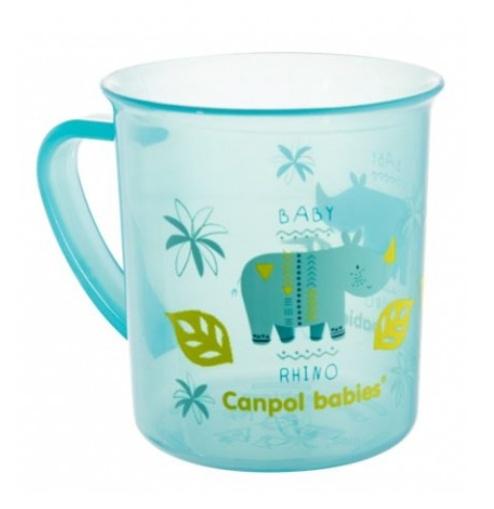 Canpol Babies Plastový hrneček - Rhino, modrý