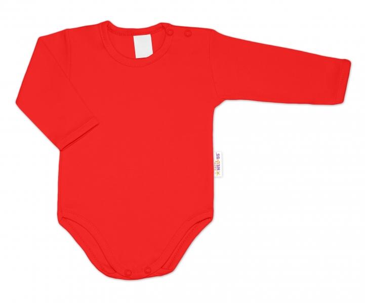 G-baby Kojenecké body dlouhý rukáv - červené, vel. 74
