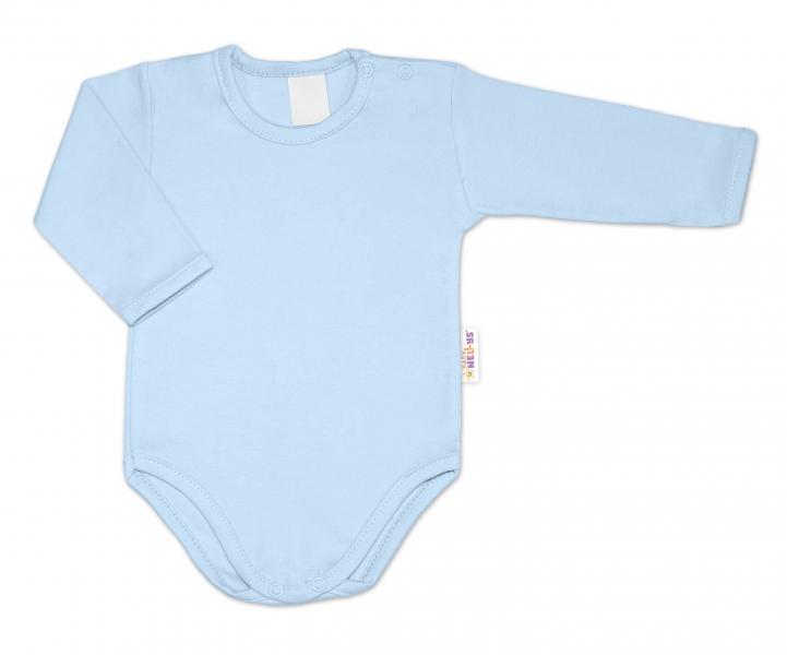G-baby Kojenecké body dlouhý rukáv - světle modré, vel. 80, Velikost: 80 (9-12m)