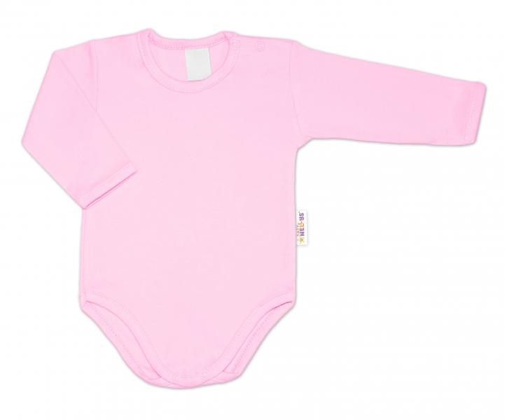 G-baby Kojenecké body dlouhý rukáv - světle růžová, vel. 74