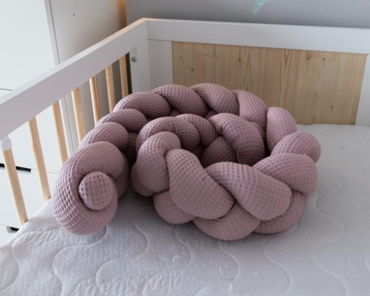 Baby Nellys Mantinel pletený cop Vafel, Magnólie, 220 x 16 cm