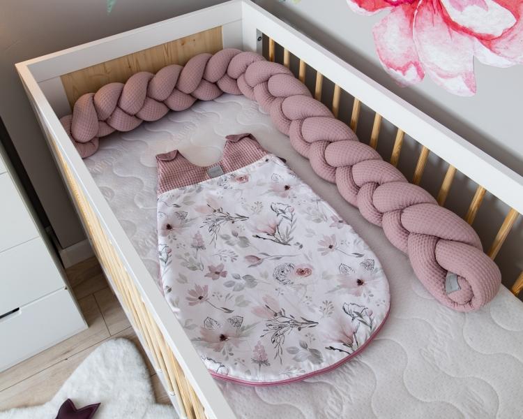 Baby Nellys Spací vak Vafel, bavlna LUX, Magnólie, 6-18m