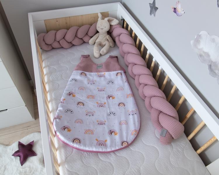 Baby Nellys Spací vak Vafel, bavlna LUX, Duha, 6-18m