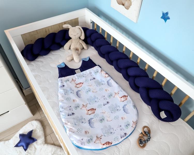 Baby Nellys Spací vak Vafel, bavlna LUX, Les, 18-36m