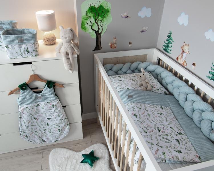 Baby Nellys 2-dílná sada do postýlky Vafel, bavlna LUX, Kapradí
