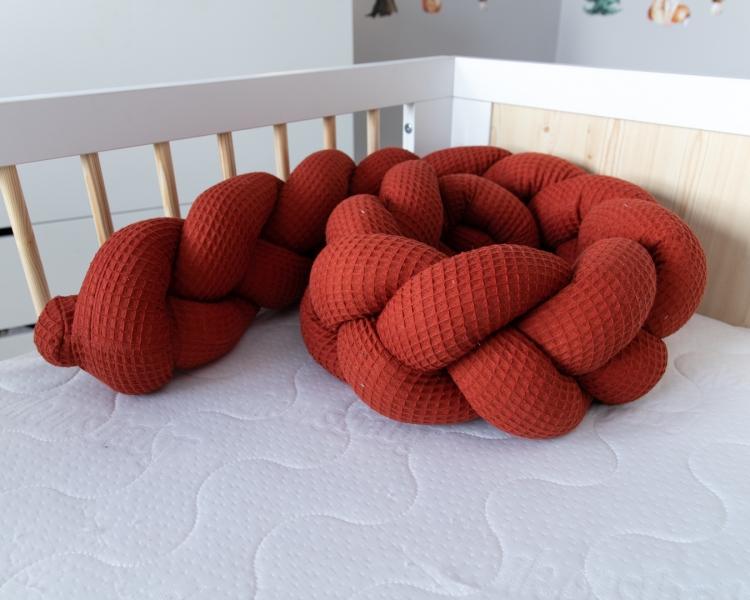Baby Nellys Mantinel pletený cop Vafel, Motýlci, 320 x 16 cm