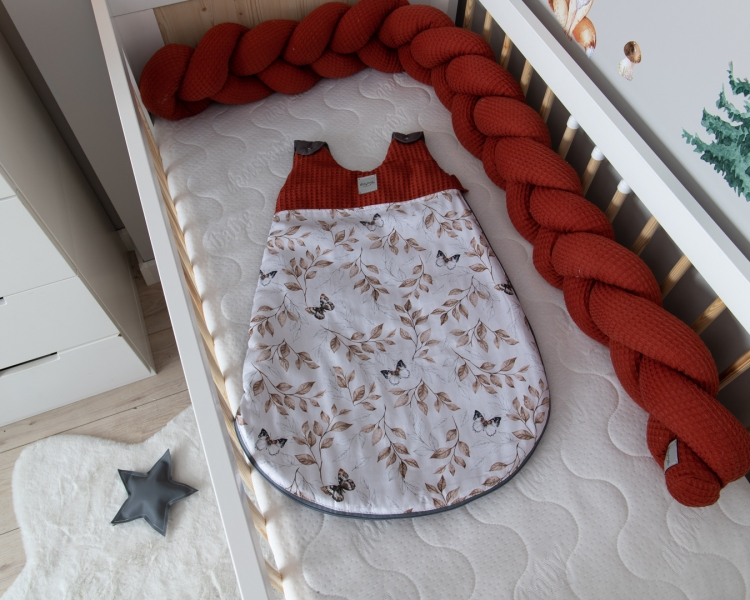Baby Nellys Spací vak Vafel, bavlna LUX - Motýlci, 6-18m