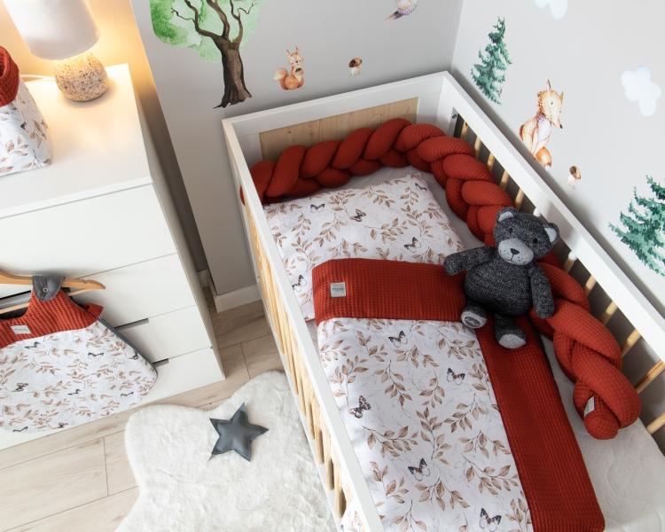 Baby Nellys 2-dílná sada do postýlky Vafel, bavlna LUX, Motýlci, 135 x 100 cm