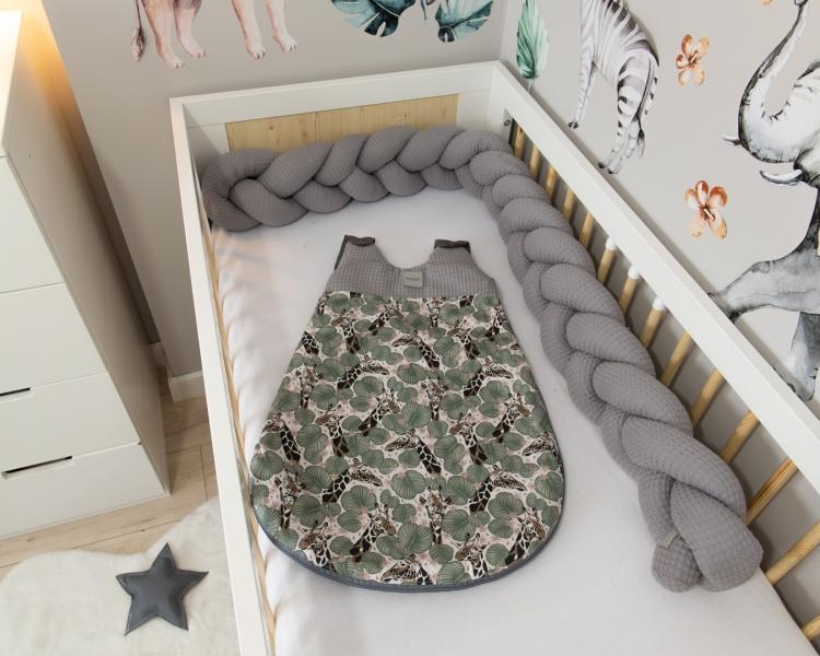 Baby Nellys Spací vak Vafel, bavlna LUX - Žirafa, 6-18m