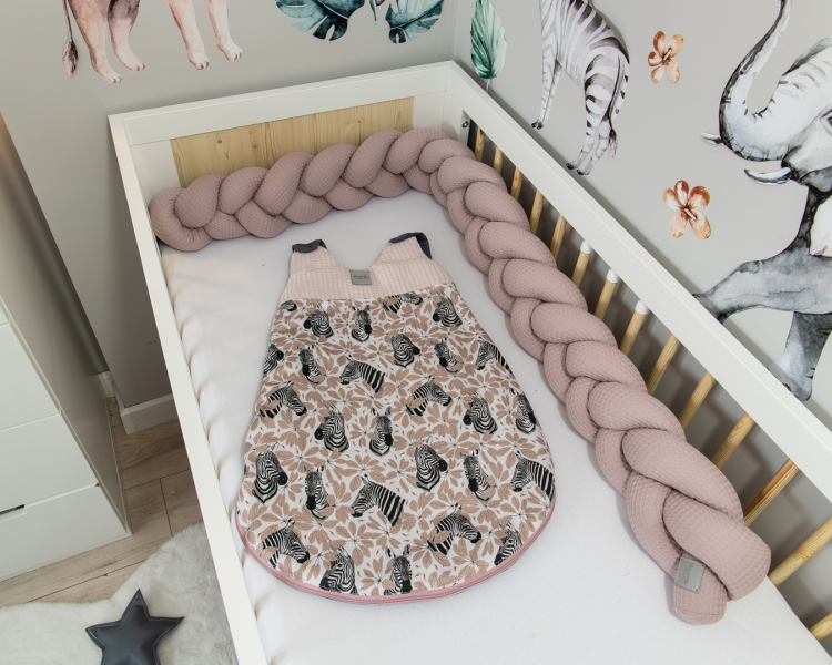 Baby Nellys Spací vak Vafel, bavlna LUX, Zebra, 6-18m