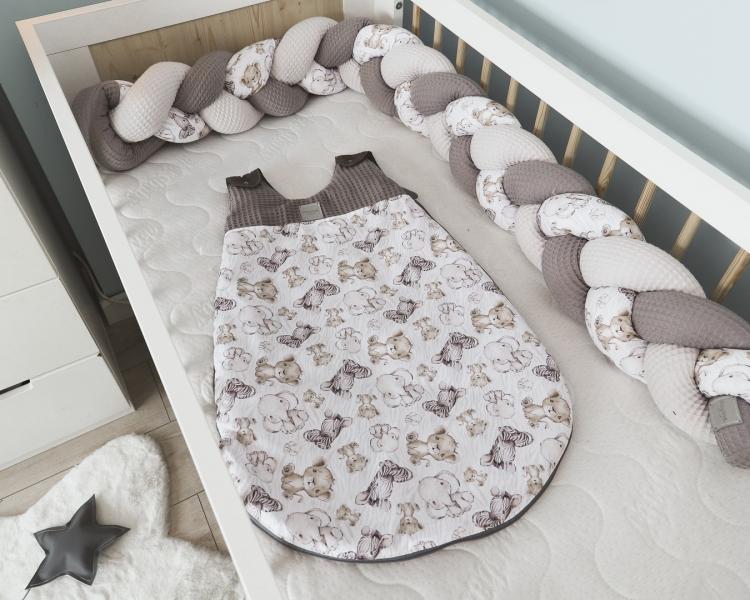 Baby Nellys Spací vak Vafel, bavlna LUX, Safari, 6-18m