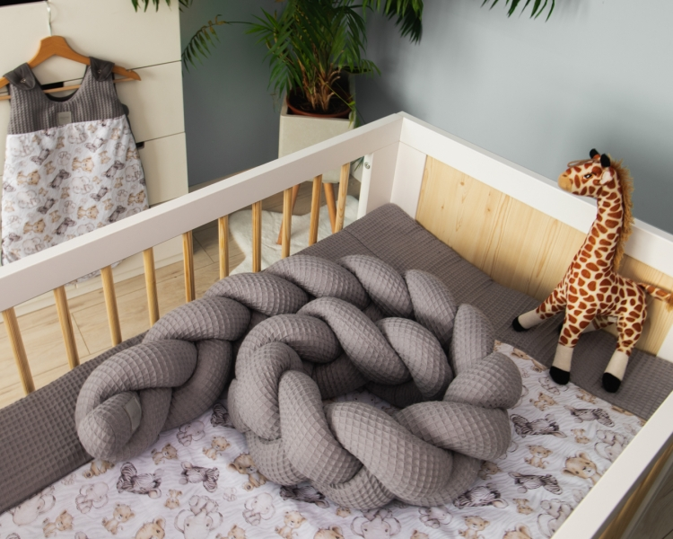 Baby Nellys Mantinel pletený cop Vafel, Safari, 320 x 16 cm