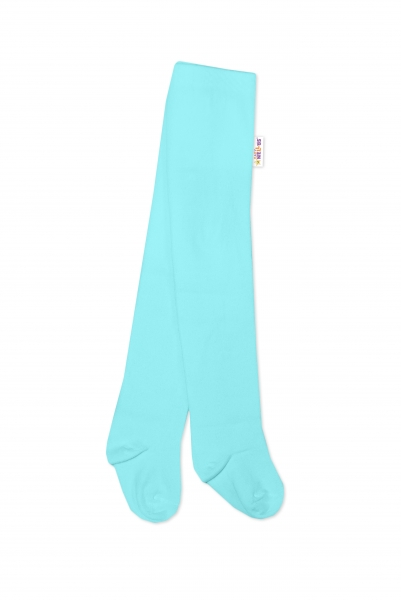 Baby Nellys Dětské punčocháče bavlněné - světle modré