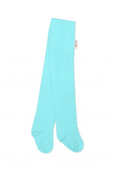 Baby Nellys Dětské punčocháče bavlněné - světle modré, vel. 80/86
