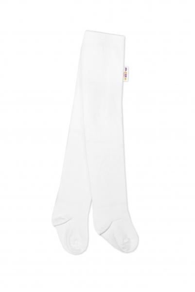Baby Nellys Dětské punčocháče bavlněné - bílé