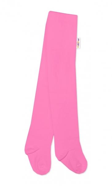 Baby Nellys Dětské punčocháče bavlněné BASIC - růžové, vel. 80/86