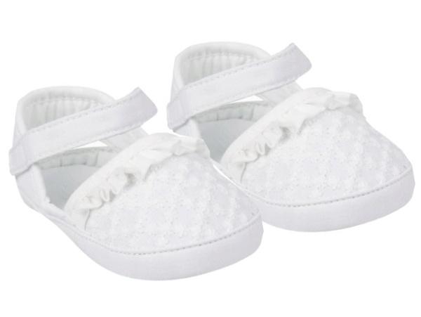 YO ! Capáčky, sandálky s volánkem, bílé, 6 - 12 m