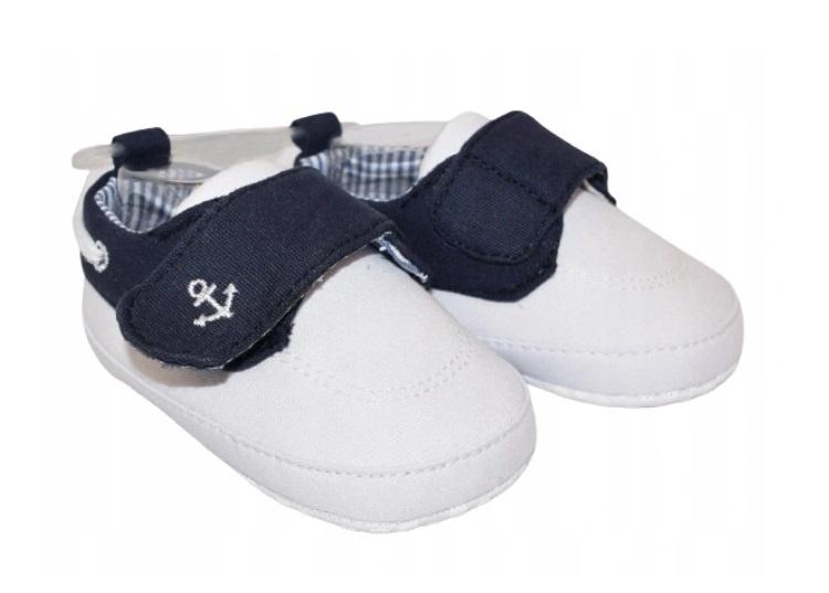 YO ! Kojenecké boty/capáčky Kotvička, bílé