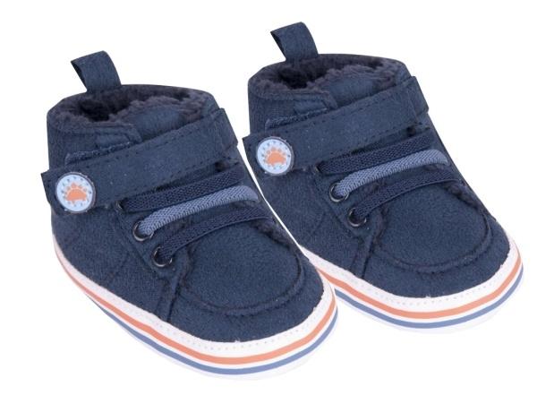 YO ! Oteplené kojenecké boty/capáčky, granátové , 0-6m