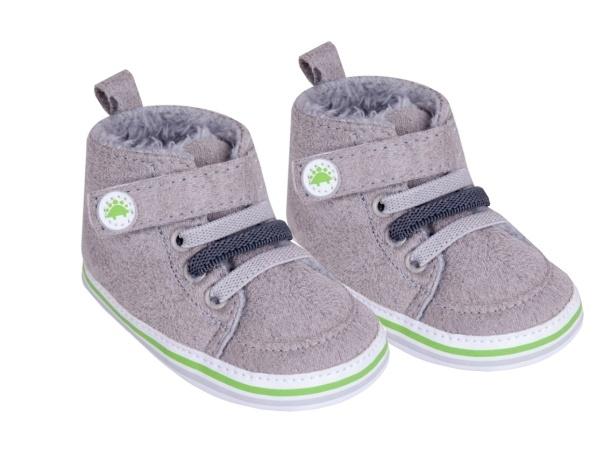 YO ! Oteplené kojenecké boty/capáčky, šedé, 0-6m