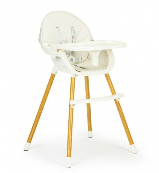 ECO TOYS Jídelní židlička, stoleček 2v1 Colby - béžový