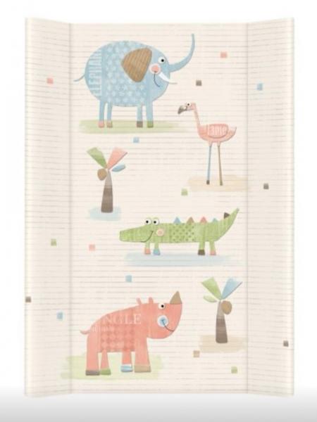 Ceba Baby Přebalovací podložka Sloní Gang - tvrdá, 50x70 cm