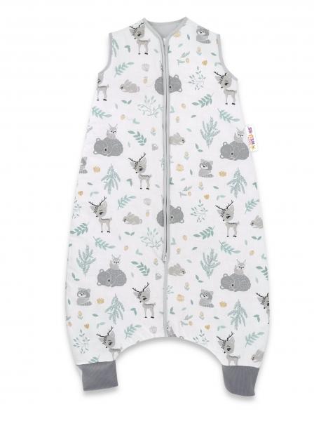 Baby Nellys, Spací vak s nohavičkami New Forest Friends , 90 cm - mátová, šedá