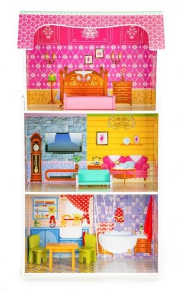 Dřevěný domeček pro panenky ECO TOYS - Slunečná rezidence