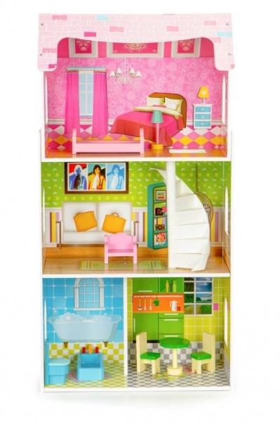 Dřevěný domeček pro panenky  ECO TOYS - Rezidence máta