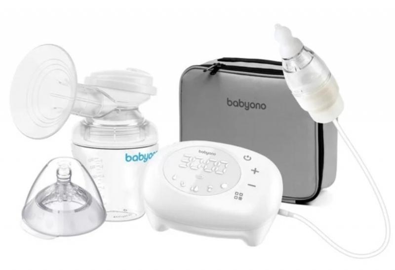 BabyOno Elektrická odsávačka Compact 5 režimů včetně nosního aspirátoru