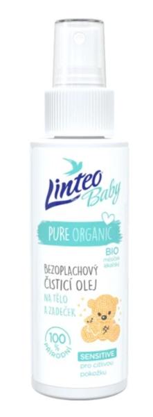 Bezoplachový, čistící olej na tělo i zadeček Linteo Baby - BIO měsíček lékařský -  100 ml