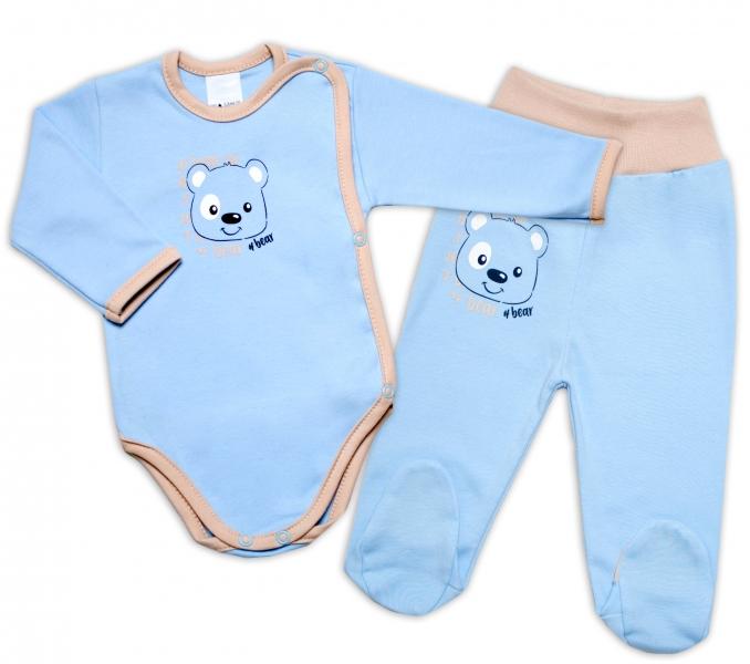 G-baby 2-dílná kojenecká sada Medvídek - modrá, vel. 62