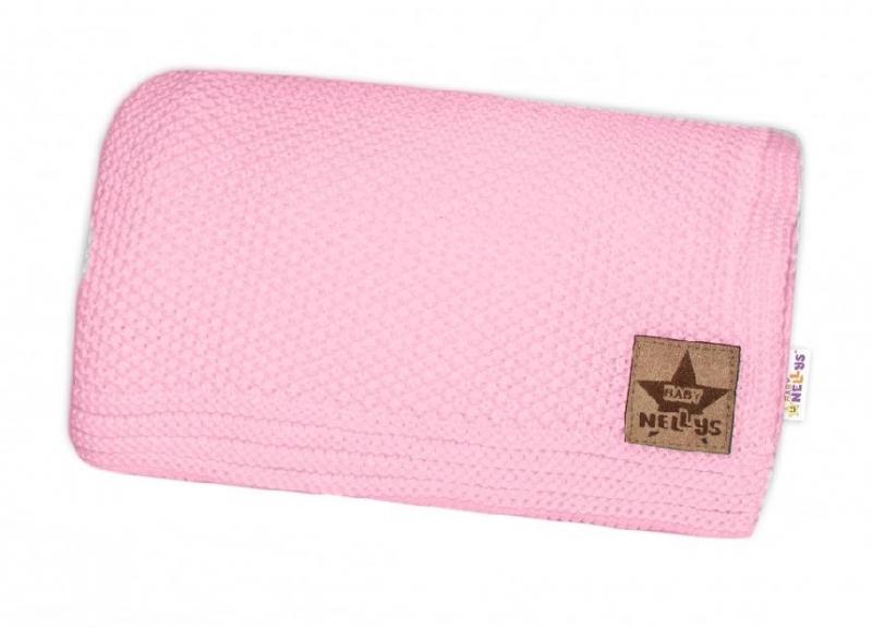 Baby Nellys Luxusní dečka do kočárku, 80x90cm - růžová