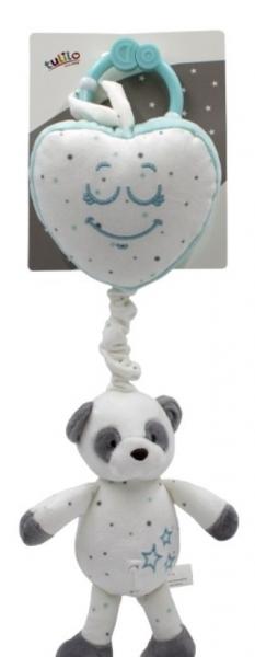 Tulilo Závěsná plyšová hračka s melodií Medvídek Panda - mátová