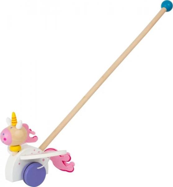 Small Foot Dřevěná jezdící hračka na tyči - Jednorožec