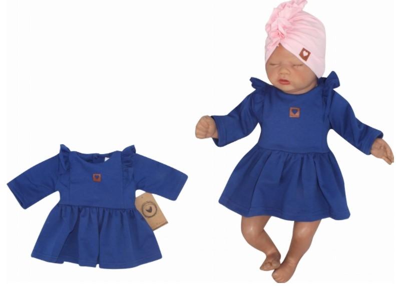 Z&Z Dětské teplákové šatičky/tunika Princess - tm.modré, vel. 74, Velikost: 74 (6-9m)