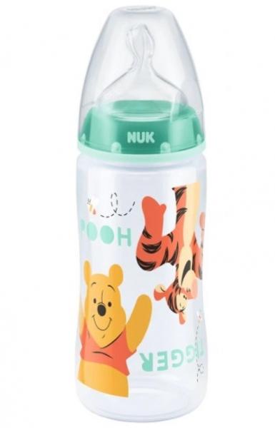 NUK Antikoliková lahvička First Choice Medvídek Pooh, 300 ml - tyrkysová