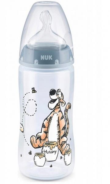 NUK Antikoliková lahvička  First Choice Medvídek Pooh a tygřík, 300 ml - modrá