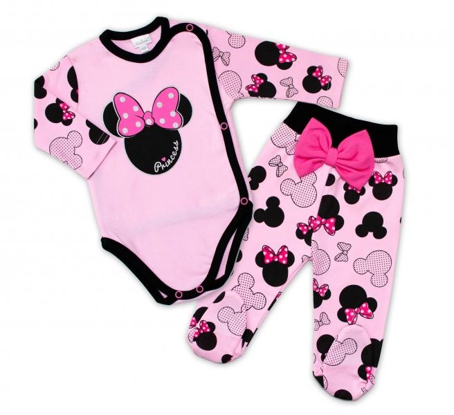 G-baby 2-dílná kojenecká sada Minnie - růžová, vel. 62