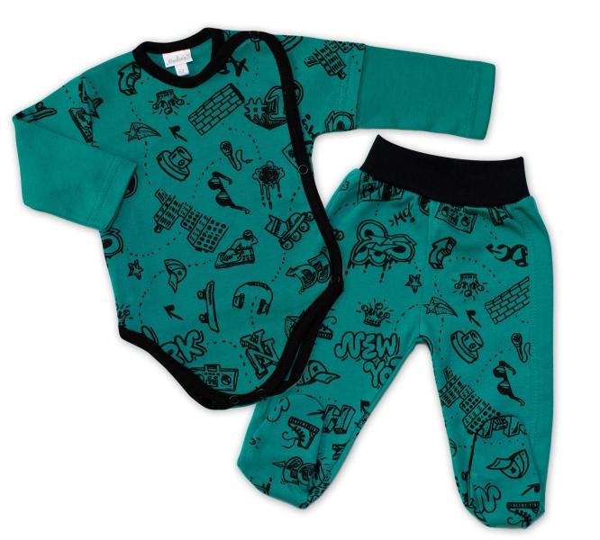 G-baby 2-dílná kojenecká sada ABC - zelená