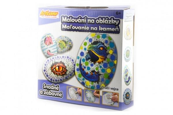 Malování na oblázky/kameny Dračí vejce kreativní sada v krabičce 15x14,5x4cm