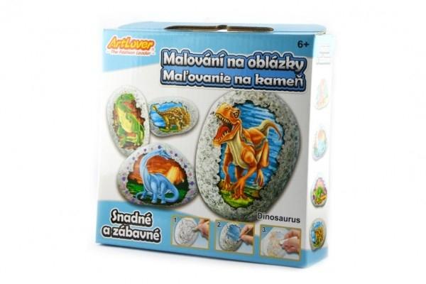 Malování na oblázky/kameny Dinosaurus kreativní sada  v krabičce 15x14,5x4cm