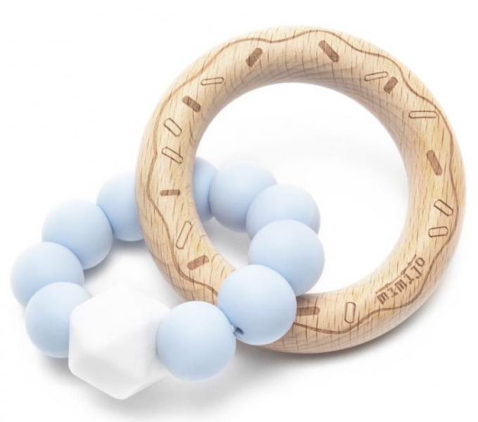 Mimijo Silikonové kousátko Donut - modré