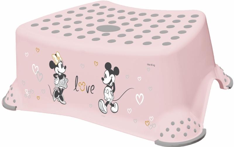Keeeper Stolička, schůdek s protiskluzovou funkcí - Minnie Mouse, růžový